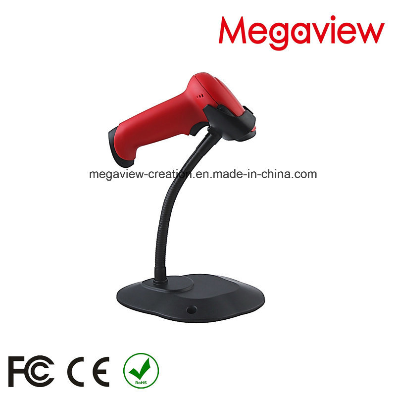 Red Color USB Cable Wired Auto Scan Barcode Scanner with Stand/Bracket (MG-BS2243T)