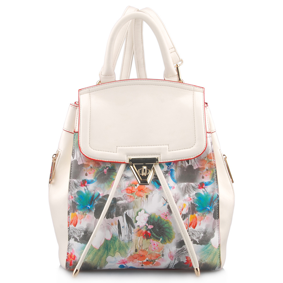 Designer Fashionable Printing PU Leather Backpack Bag (LY05042)