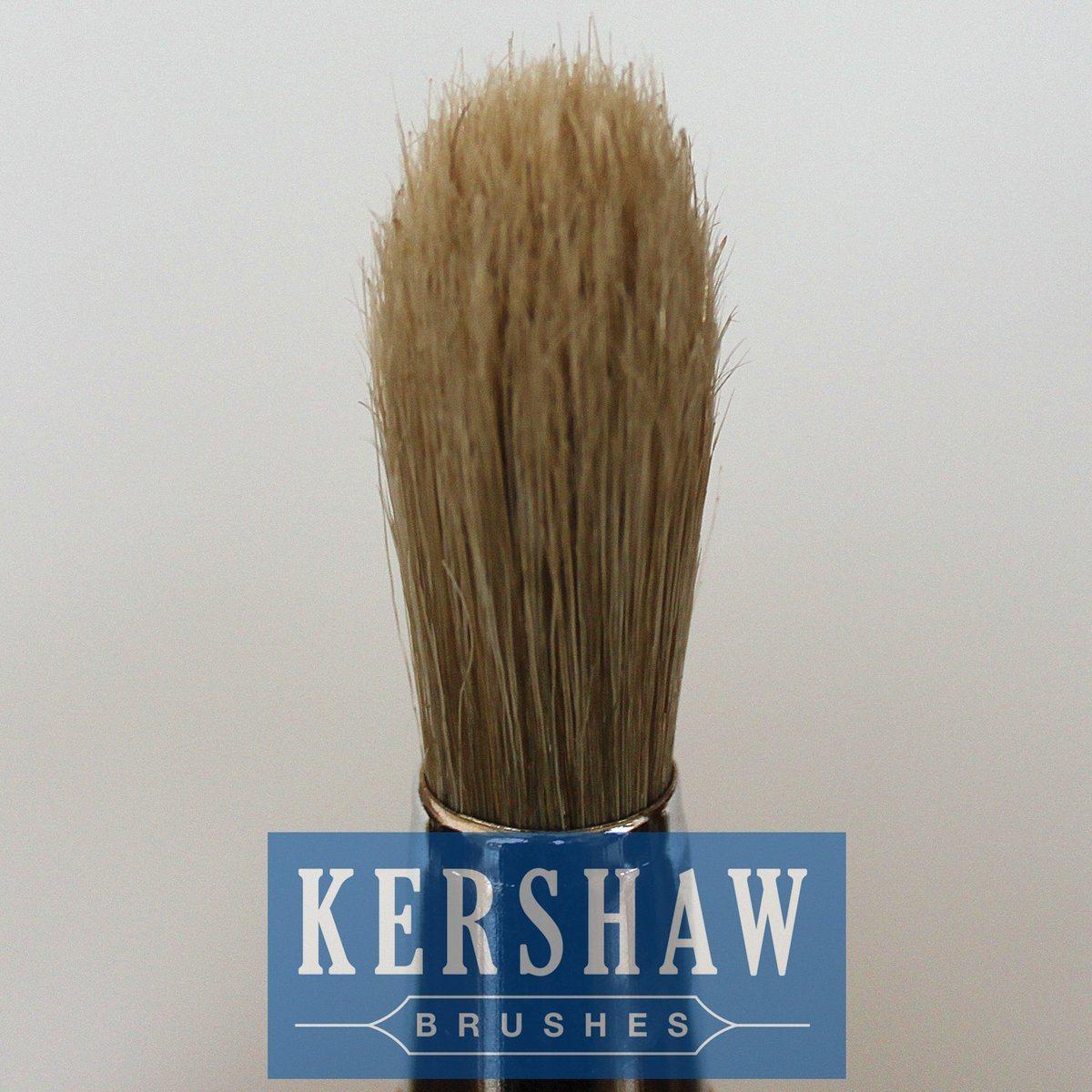 Round Brush (Paintbrush with Pure White bristle and hard wood handle, tip-round brush)