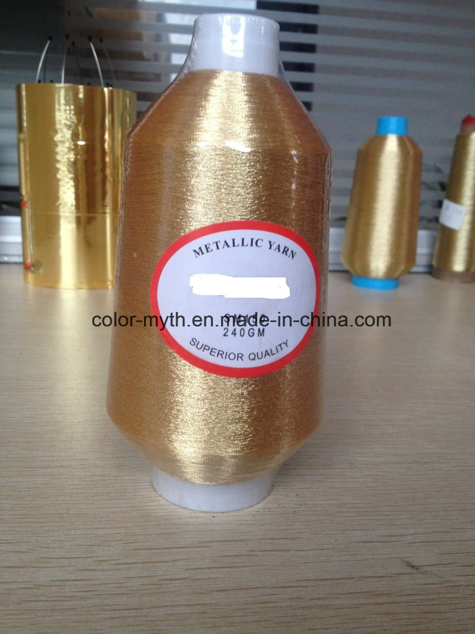 Fluorescent Golden Color Ms Type Metallic Yarn