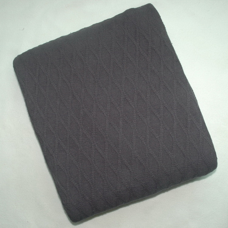 100% Cotton Diamond Pattern Woven Blanket CB-1403