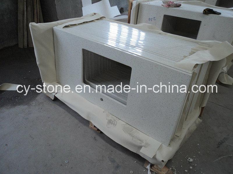 Natural Polished Decorative White Artificial Stone Quartz Granite for Countertop