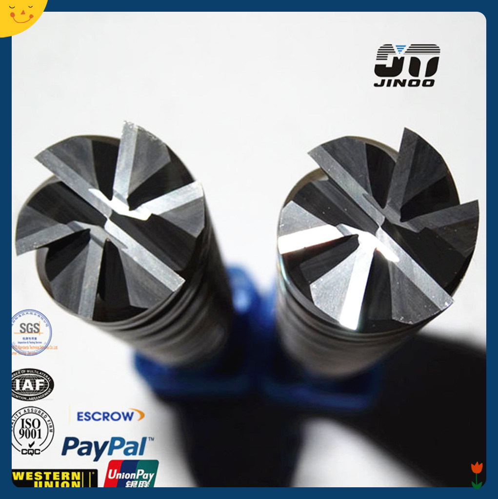 6 Flutes Tungsten Carbide Cutting Tools Milling Cutter with Nano Coating