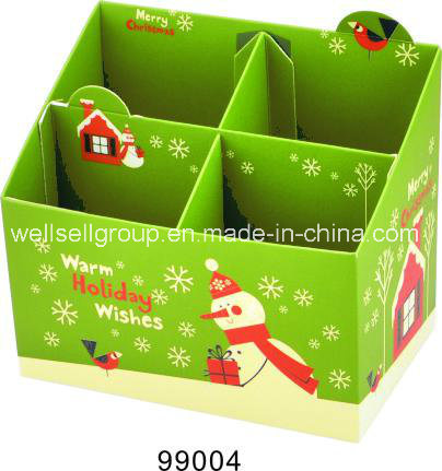 Storage Paper Gift Box (snowman shaped) for Office Supply/School/Christmas Gift