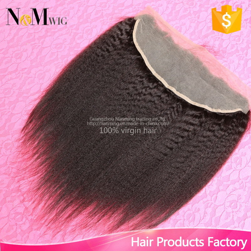 130% Density 13X4 Inches Style Human Hair Accessories Brazilian Lace Frontal Closure