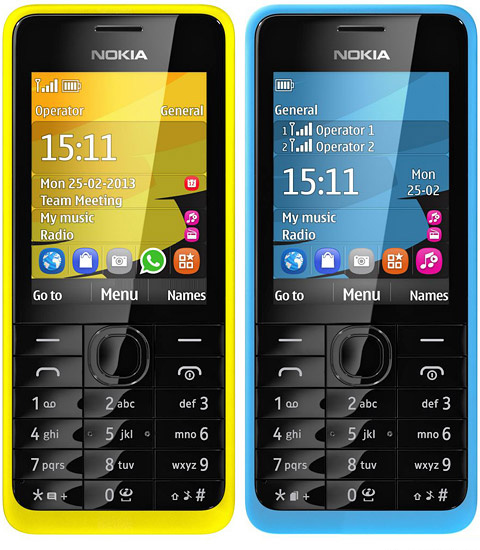 Five Colors Original for Nokia 301 Cell Phone