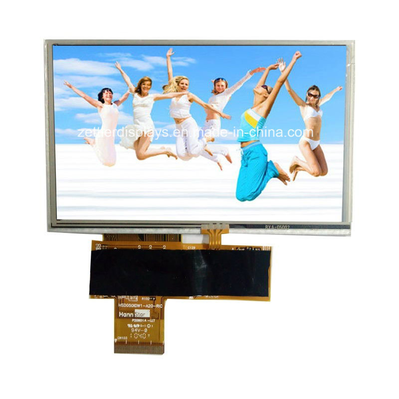 "5"" WVGA TFT Display, 800X480, with Resistive Touch Panel: ATM0500d13-T"