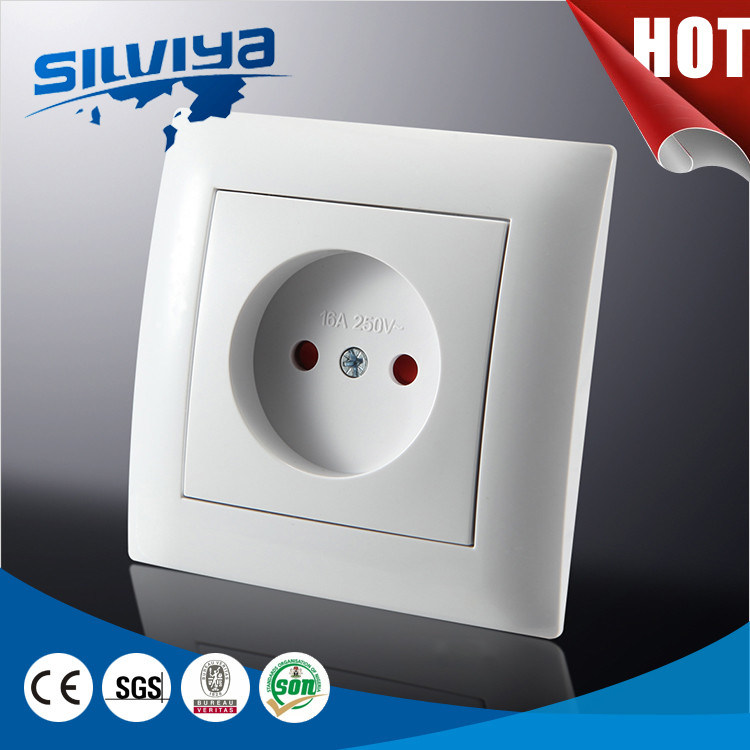 1 Gang 2 Pin Wall Socket Non-Grounding with Child Protection