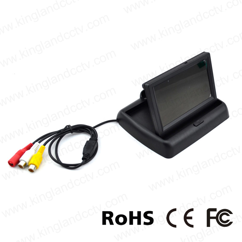 4.3inch Foldable TFT LCD Display Car Reversing Rear View Monitor