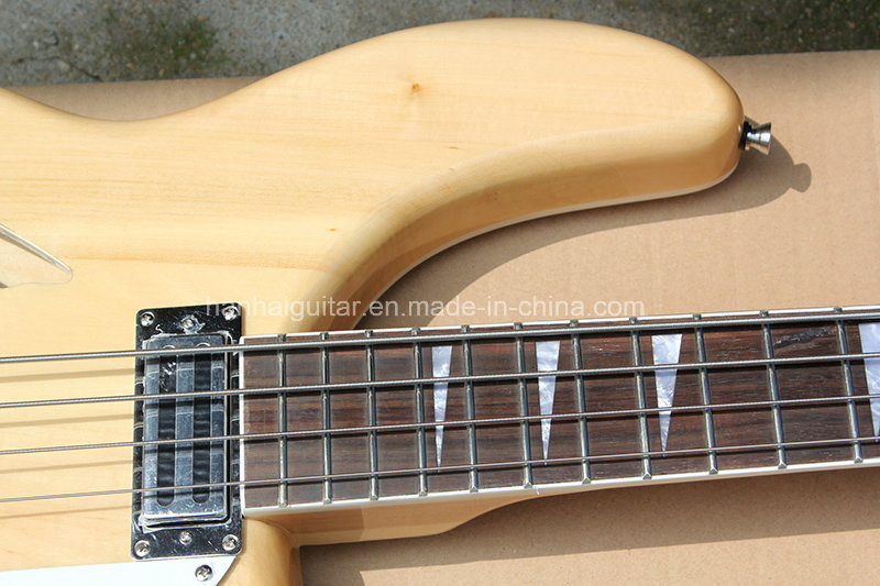 Hanhai Music/Original Wood Color Ricken Style Electric Bass Guitar