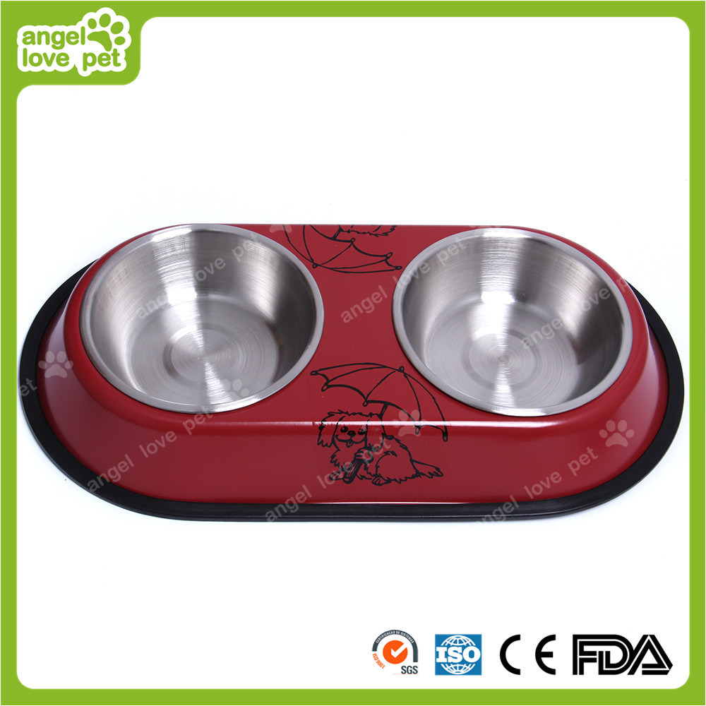 Pet Staninless Steel Double Feeding Bowl