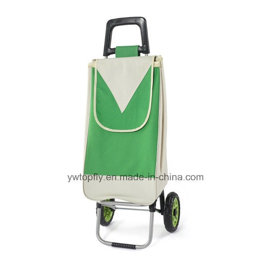 Foldable Shopping Cart for Supermarket with 2 Wheels