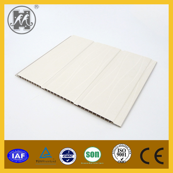 Interior Decorative Double Grooves PVC Laminated Wall Panel