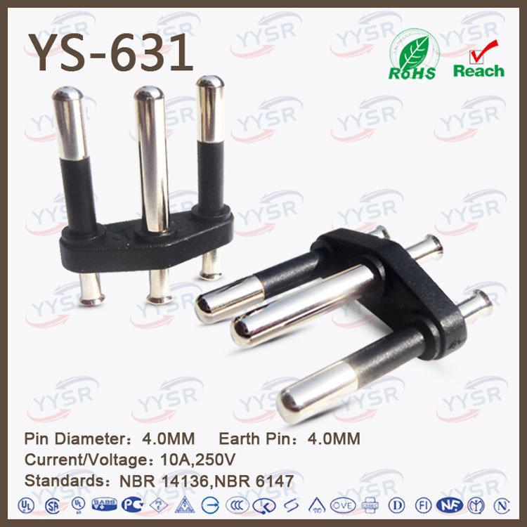 3 Wire Brazil Plug