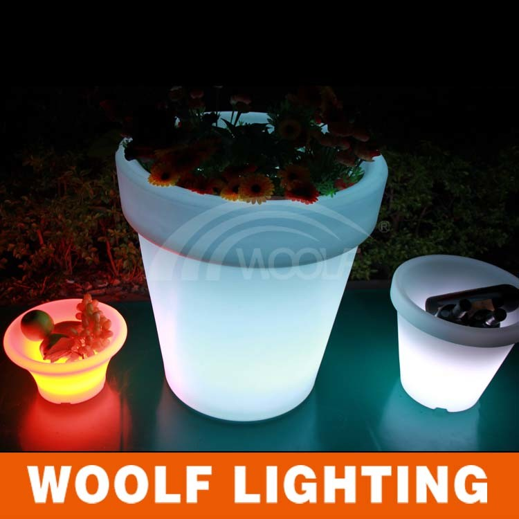 Rechargeable Color Changing Decorative LED Lighting Planter
