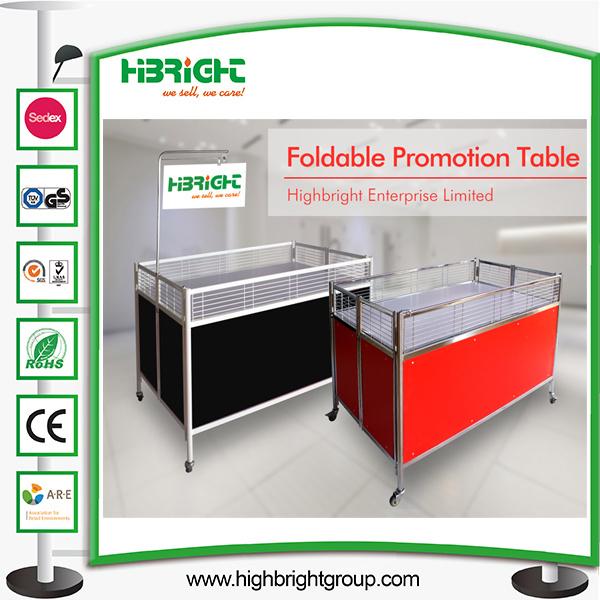 Supermarekt Metal Display Promotion Table