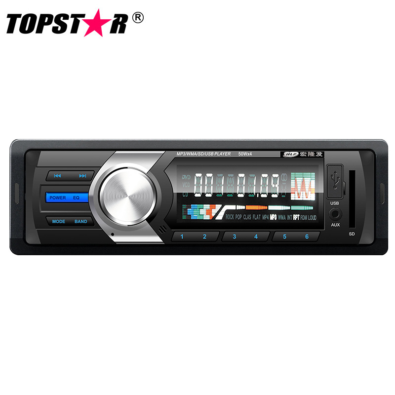 Fixed Panel One DIN Car MP3 Player with Pre-AMP Output