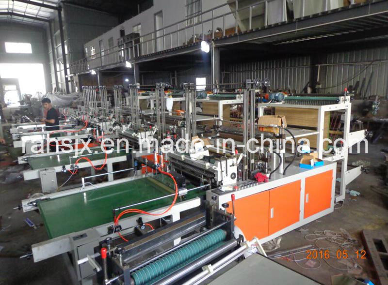 Computer Double Layers Shopping Bag Making Machine (LQ-600)