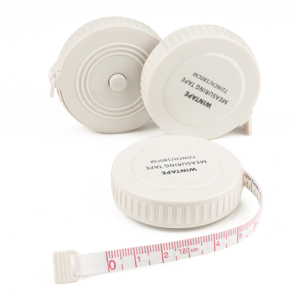 1.8m New Hot Product Plastic White Round Personalized Tape Measure