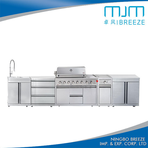 High Quality Commercial Stainless Steel BBQ Outdoor Kitchen