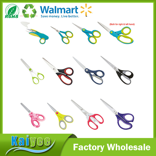Promotional Soft Grip Scissors Bith for Right or Left Hand