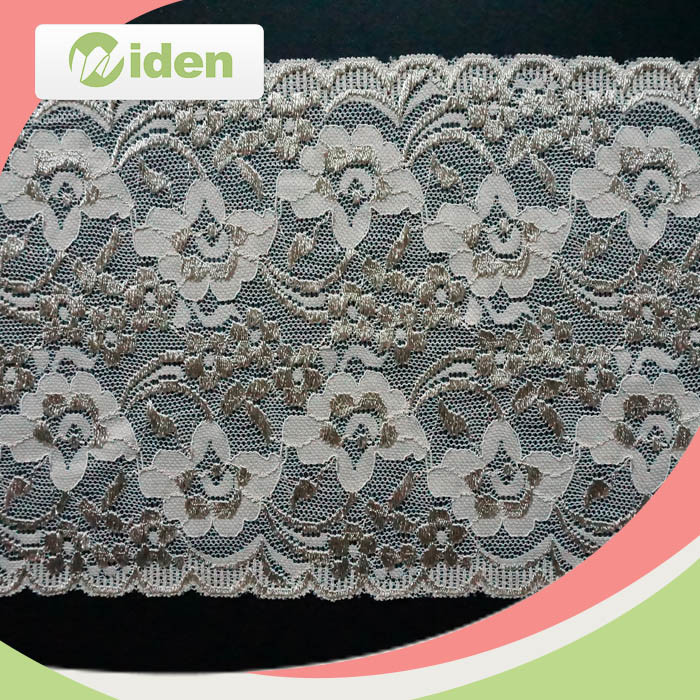 Swiss Voile Lace Fabric Scalloped Elastic Watkins Trim Lace Elastic