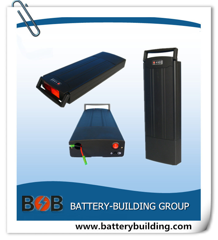 10s5p Lithium Electric Bicycle Battery Pack with Rear Rack Style