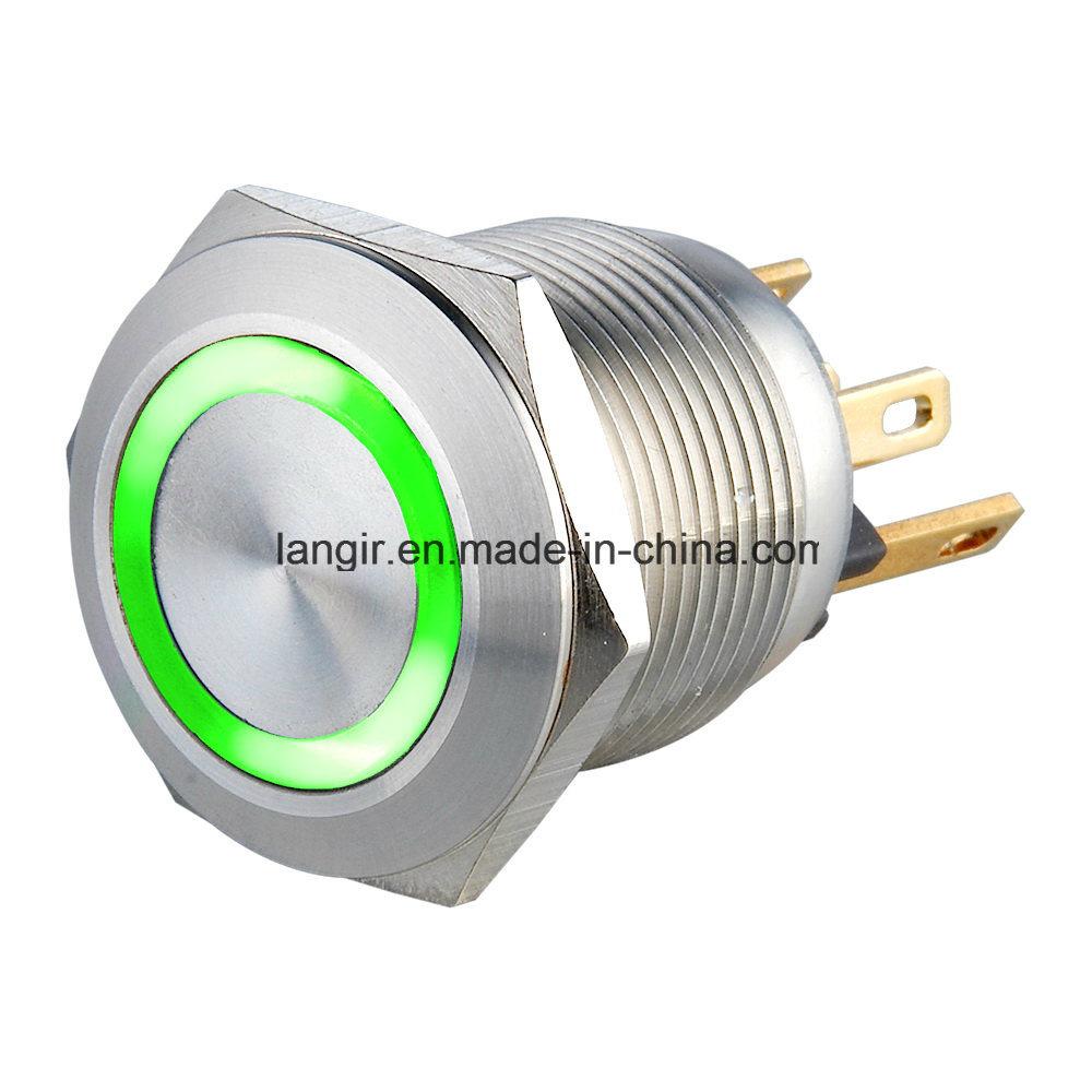 19mm Anti-Vandal Metal Illuminated Pushbutton Switch