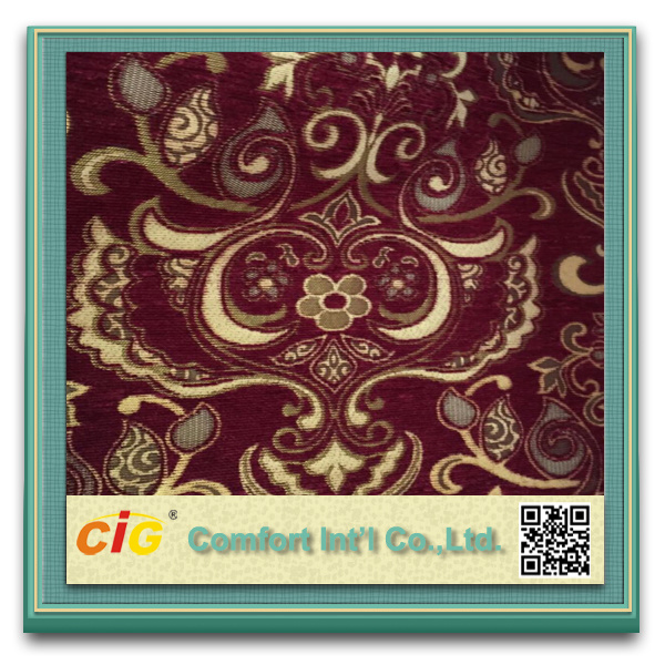 Jacquard Polyester Sofa Fabric Chenille Curtain for Sofa
