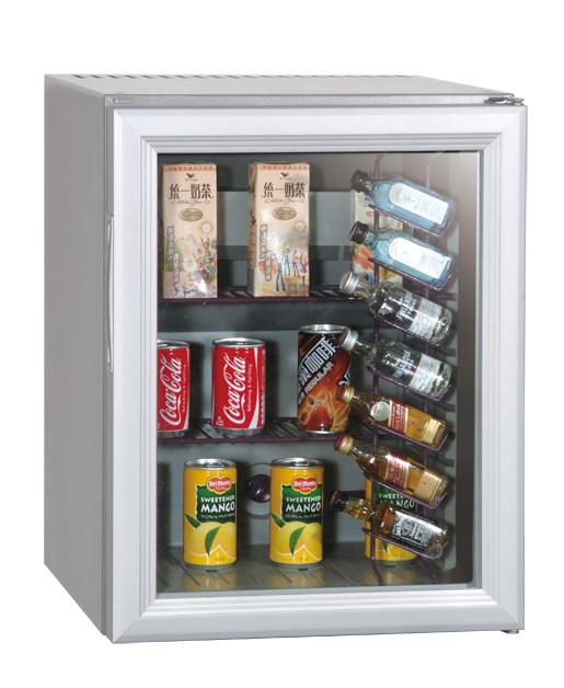 Stainless Steel Undercounter Can Cooler Fridge Glass Door Xc-38-2