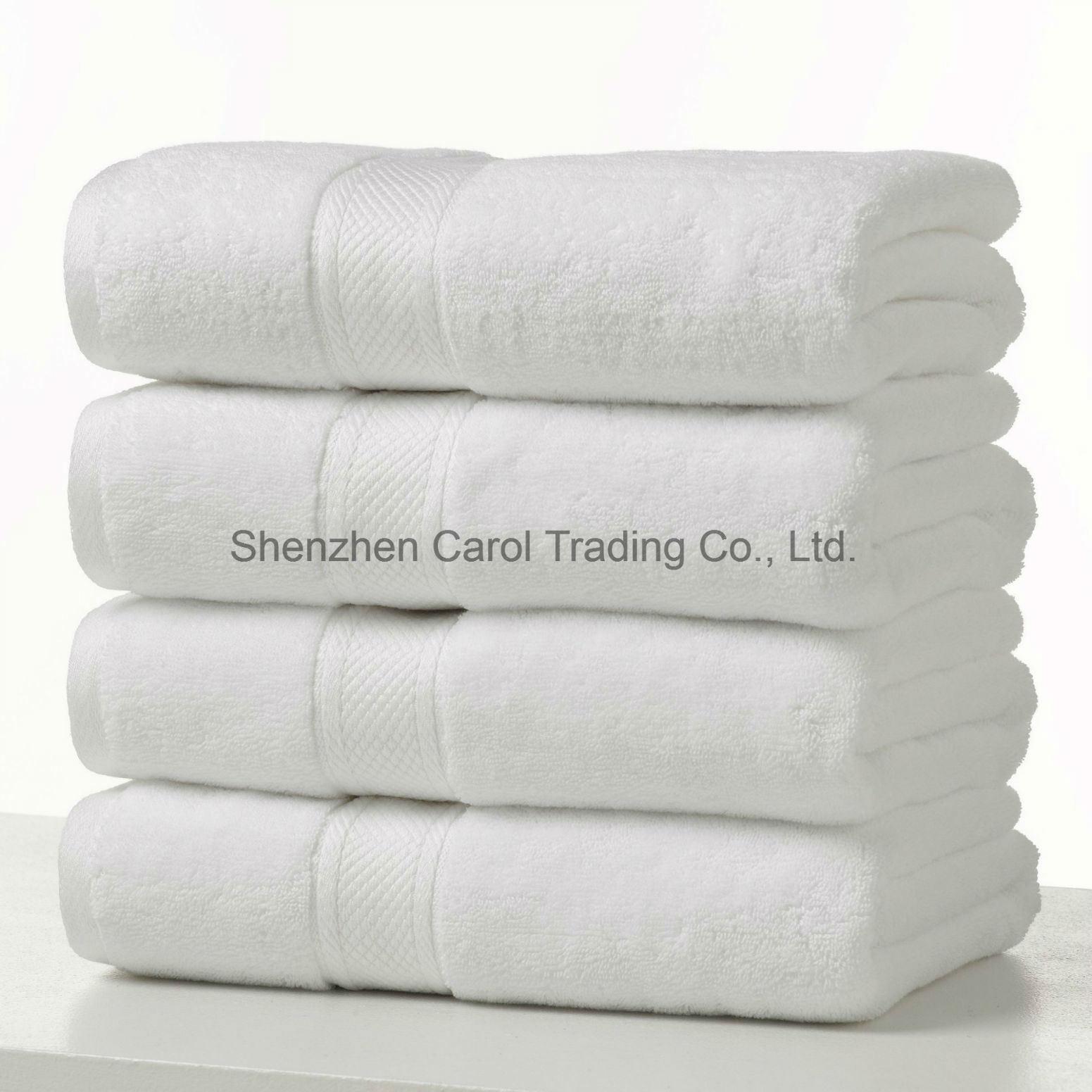 100% Cotton White Hotel Textile Bath Towel Hotel Towel