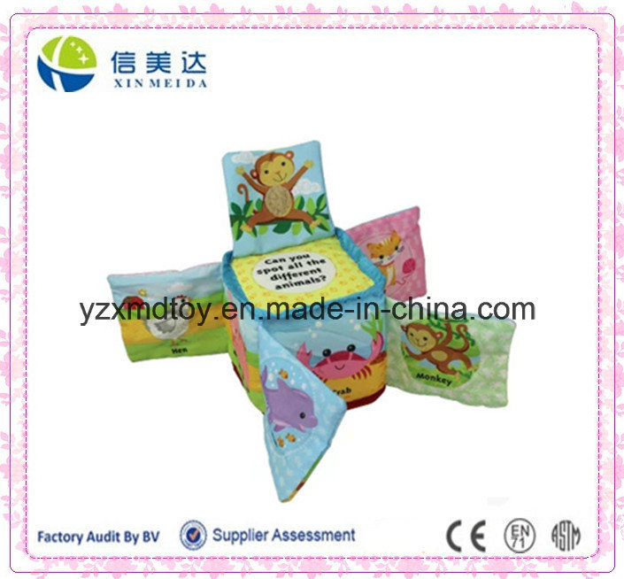Nice Infant Book Cube Building Block Cloth Book for Baby