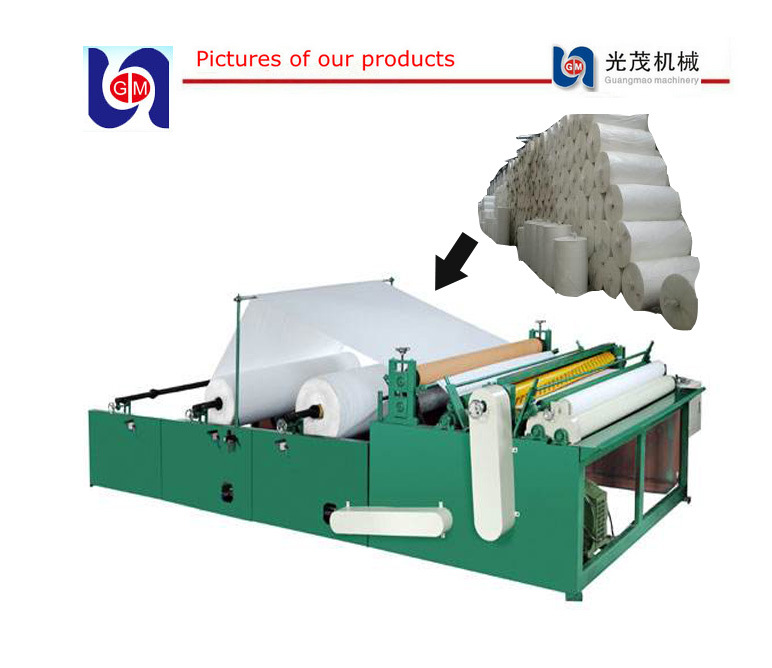 Toilet Paper Rewinder Tissue Rewinding Perforating and Embossing Machine