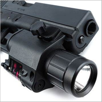 Tactical Red Laser Sight and LED Flashlight for Picatinny Rail