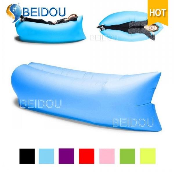Inflatable Hangout Hammock Air Lounge Sleeping Bags Air Sofa Low Price Bean Bed Lazy Bag