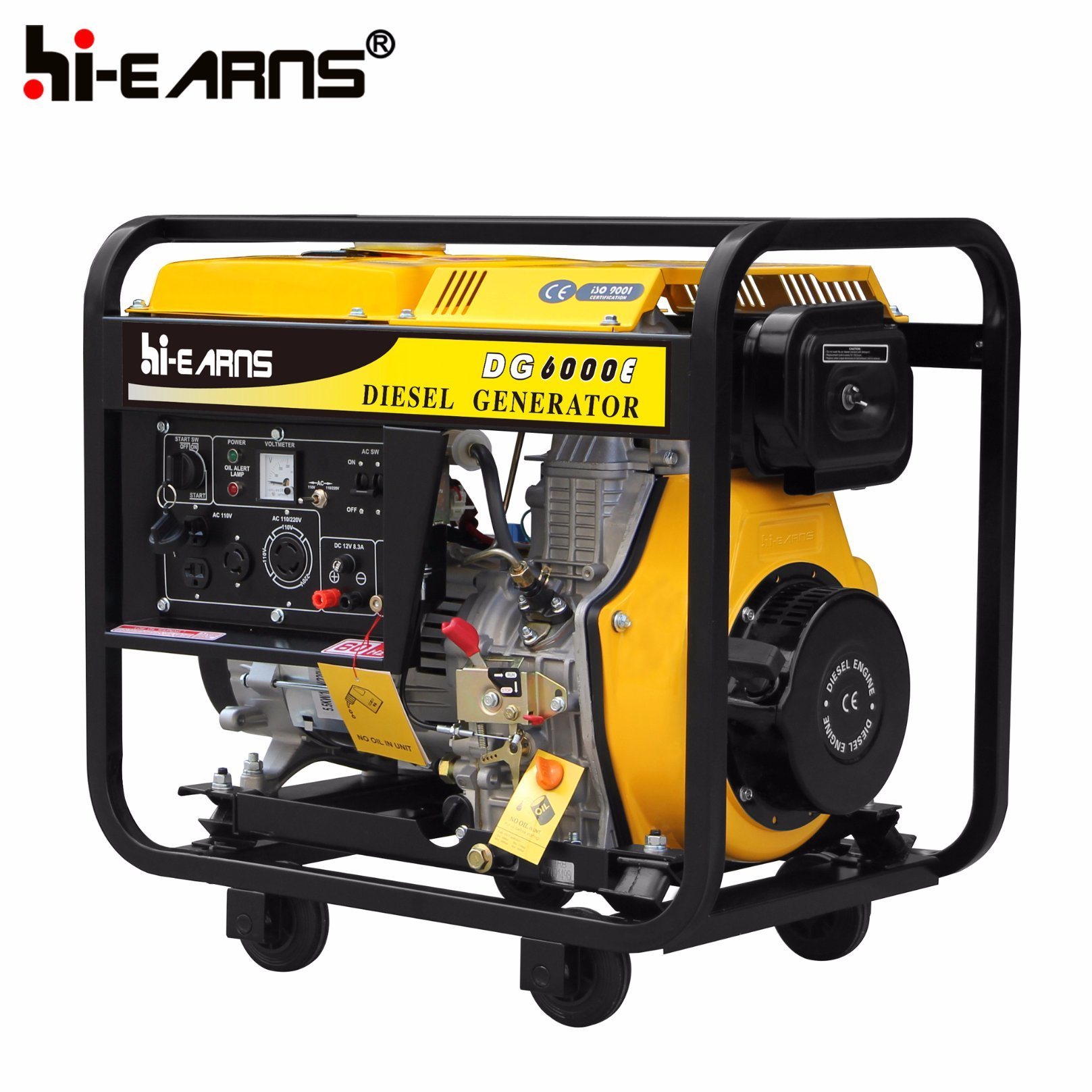 China 5kw Portable Diesel Engine Power Generator Set DG6000E