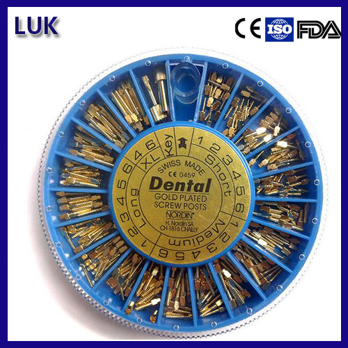 Manufacture of Dental Golden Plated Implant Screw Post (240PCS/box)