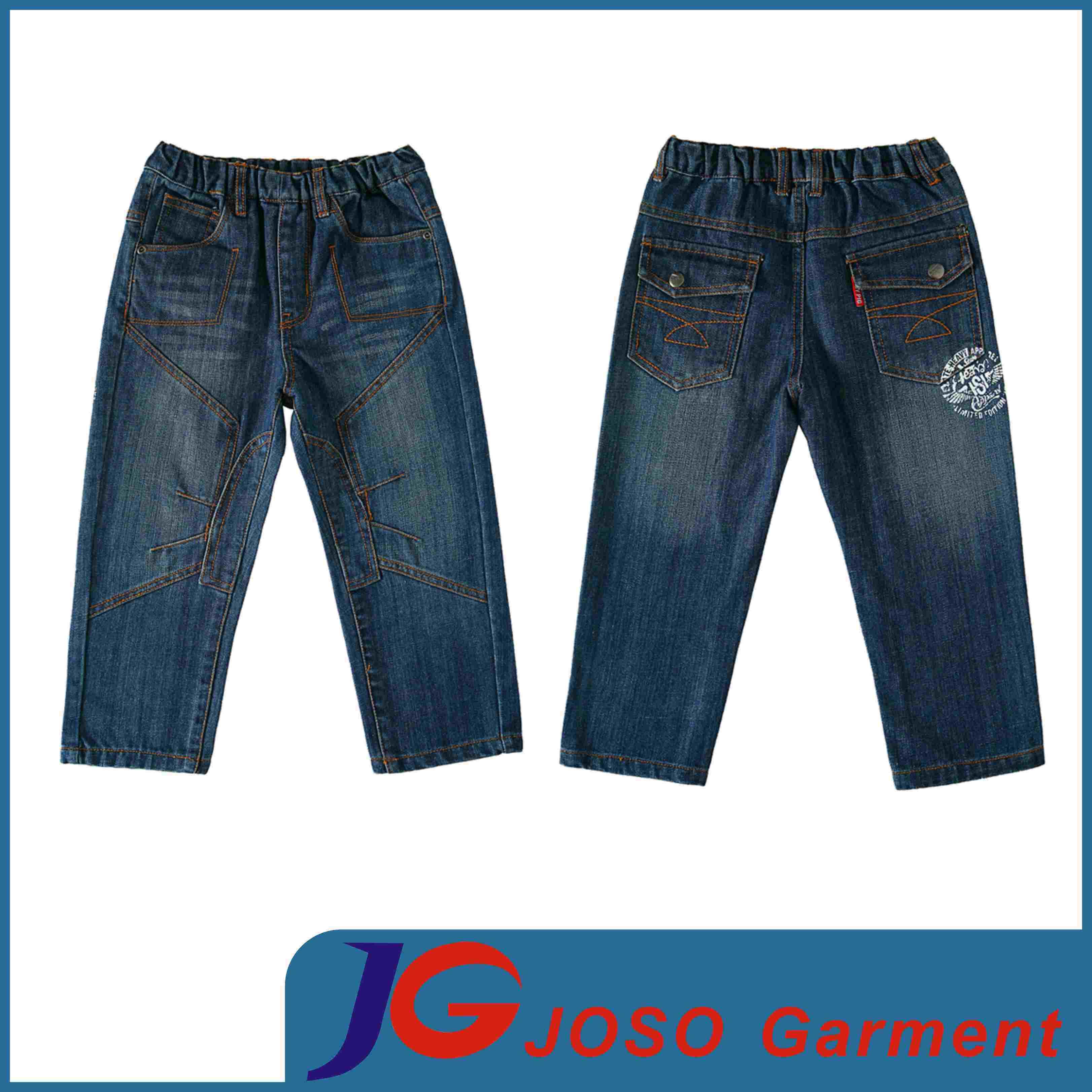 Children Cotton Patches Denim Pants (JC5131)