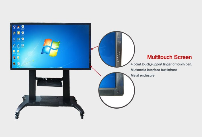 55, 65, 75, 85, 98, 110- Inch LCD Display with OPS PC Built-in Interactive Touchscreen Kiosk Interactive Whiteboard