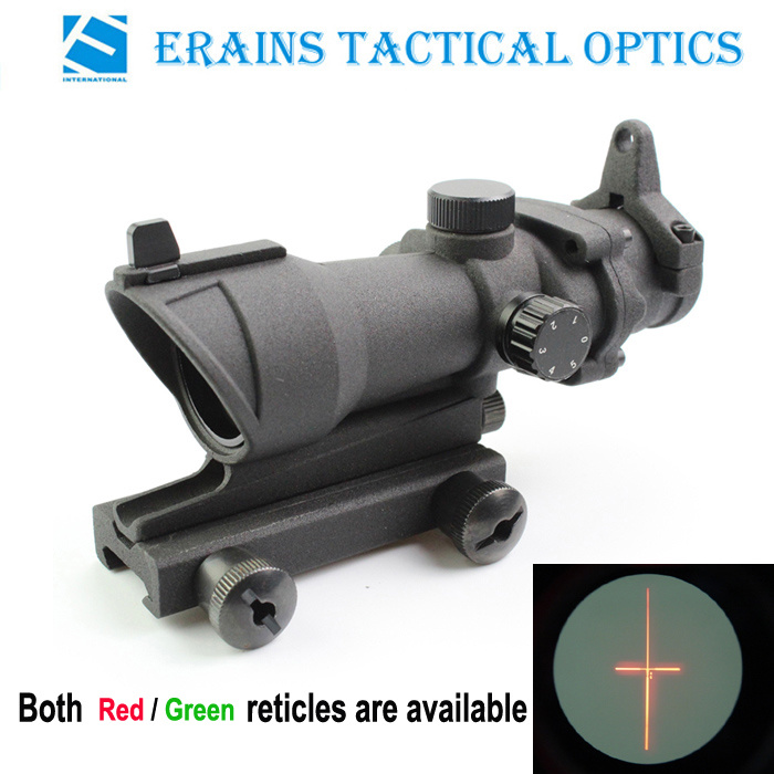Trijicon Acog Style Military Standard Tactical 4X32 Rifle Scope with Red/Green Illuminated Reticle