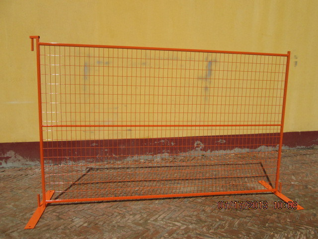 6ftx10FT Ral 2009 Orange Coated Portable Security Canada Temporary Fence for Event