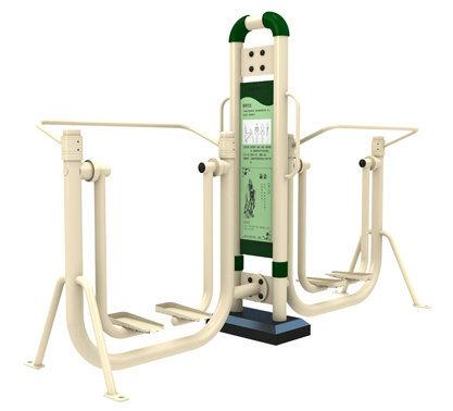 Double Air Walker Galvanized Steel Outdoor Fitness Equipment