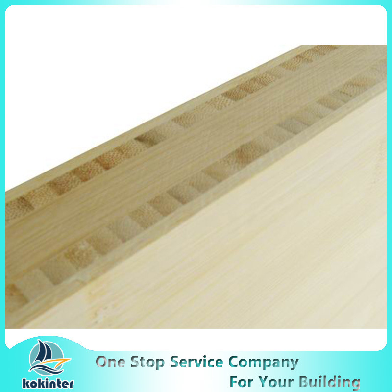 H Shape I Shape 12mm Natural Color Bamboo Plywood Furniture Board/Skate Board