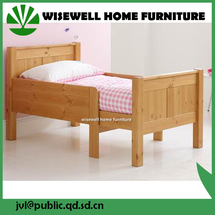 Solid Pine Wood Children Single Bed (WJZ-B62)