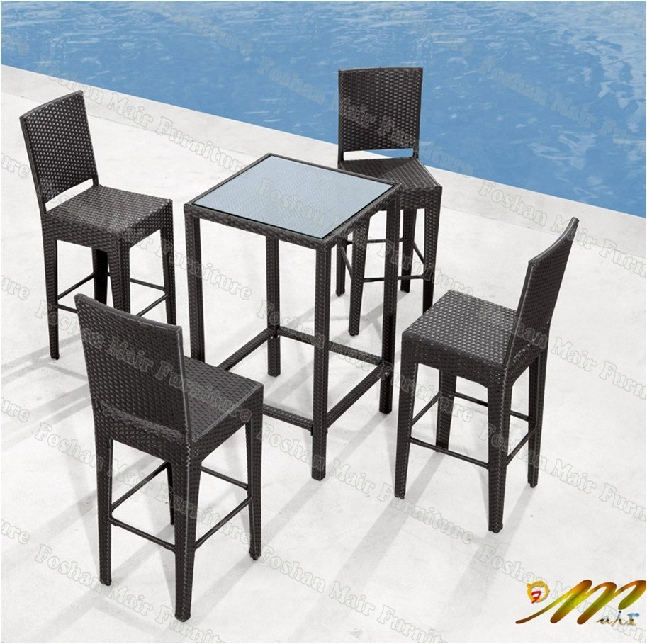 Rattan Garden Outdoor Dining Table Chair Set Seating Table
