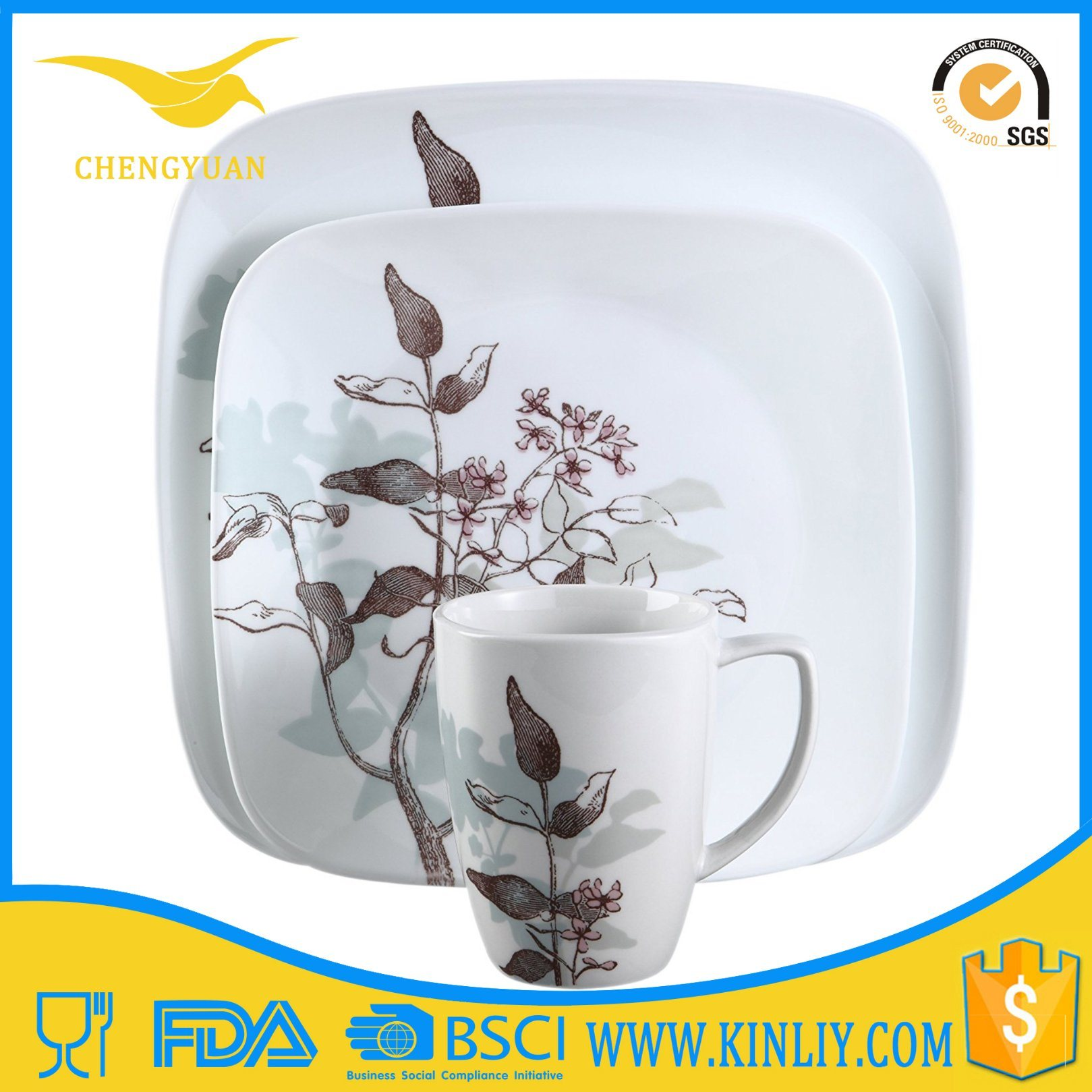 Fresh Fashion Design Melamine Dinner Set Used Kitchenware