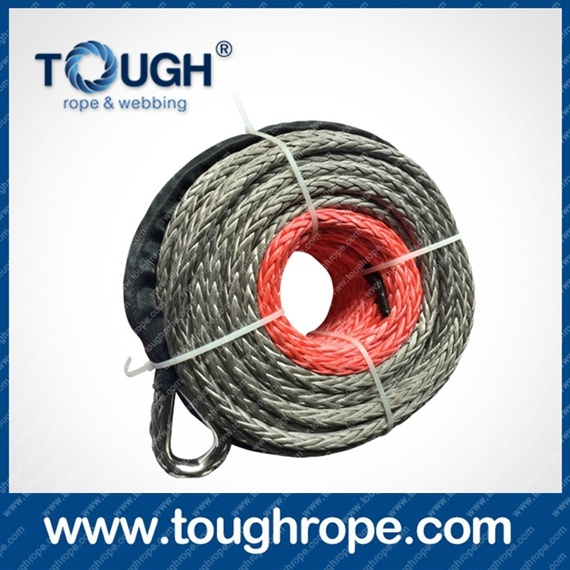 Tr-07 Winch for Boat Trailer Dyneema Synthetic 4X4 Winch Rope with Hook Thimble Sleeve Packed as Full Set