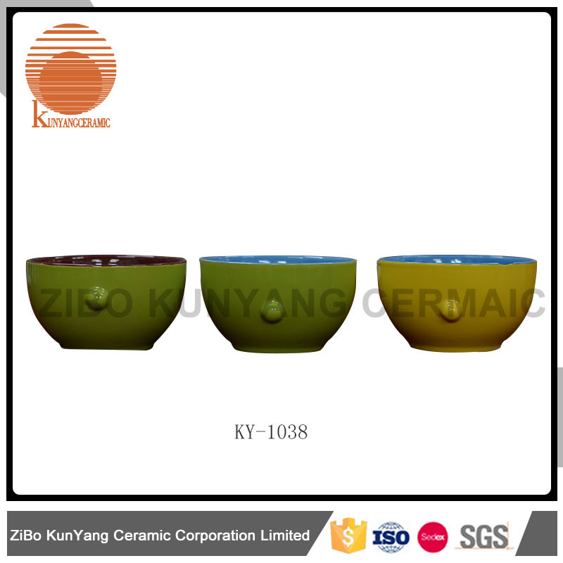 Embossed Bowl with Decal