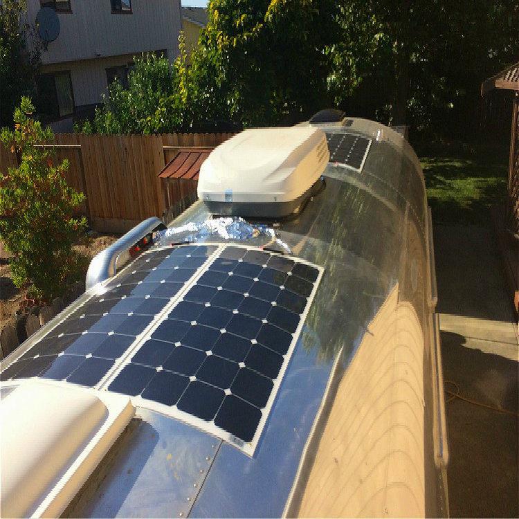 OEM Full Certified 100W 150W 200W Semi Flexible Solar Panel