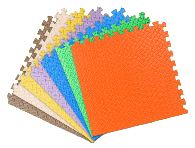 4 Pk Multi-Color EVA Foam Interlocking Education Kids Play Floor Mat
